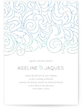 Ocean Flourish Wedding Invitations