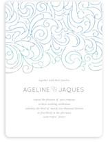Ocean Flourish Wedding Invitations