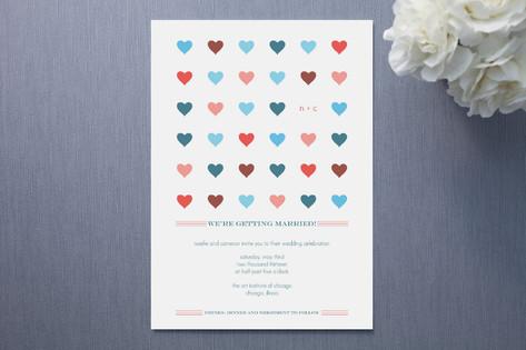 Modern Hearts Wedding Invitations
