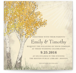 Fall Tranquility Wedding Invitations