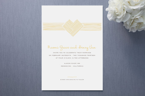 Heart Strings Wedding Invitations