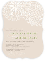 White Lace Wedding Invitations