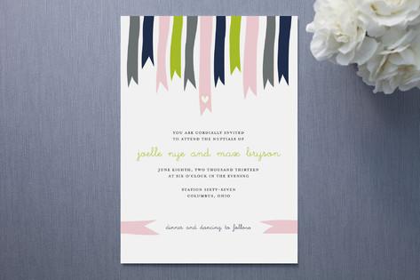 Breezy Ribbons Wedding Invitations