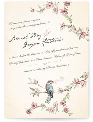 Blue Bird of Happiness Wedding Invitations