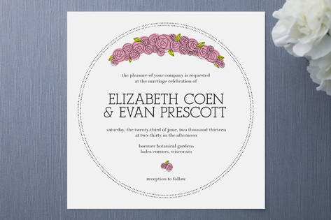 Parisian Blooms Wedding Invitations