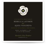 White French Anemone Wedding Invitations