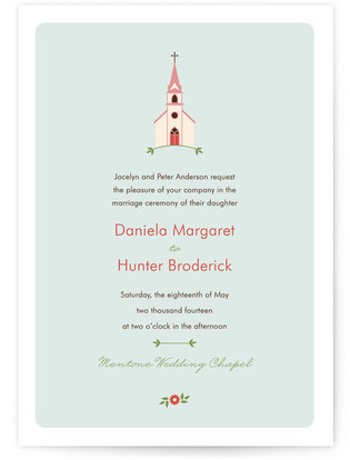 Sweet Chapel Wedding Invitations