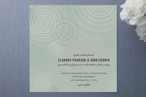 Romantic Ripple Wedding Invitations