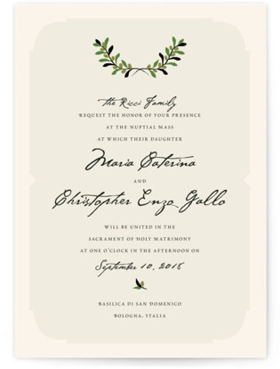 Italiano Wedding Invitations