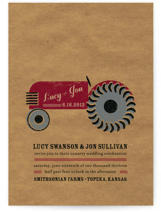Farm Country Wedding Invitations