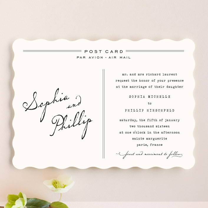 """Airmail"" - Vintage Wedding Invitations in Ivory by annie clark."