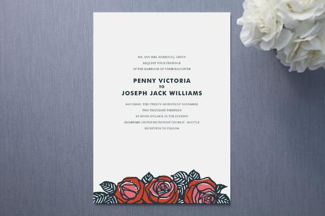 Rose Chic Wedding Invitations