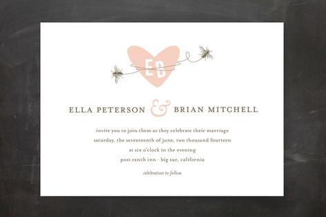 Sweet Bees Wedding Invitations