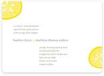 Lemon Drop Wedding Invitations