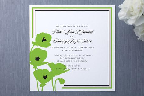Preppy Poppy Wedding Invitations