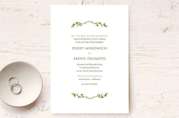 """MODERN BRANCH"" - Rustic Wedding Invitations in Jungle Green by annie clark."