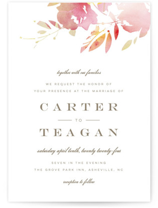 Stately Florals Wedding Invitations
