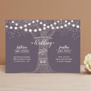 Garden Lights Wedding Invitations by Hooray Creati... | Minted