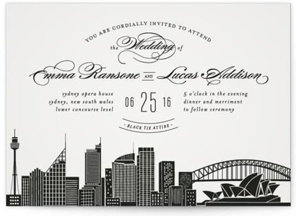 Big City Sydney Wedding Invitations