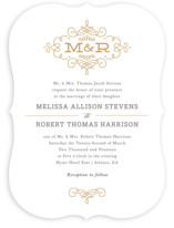 Ornate Monogram Wedding Invitations