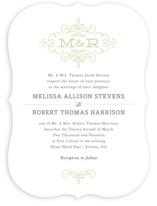 Ornate Monogram Wedding Invitations