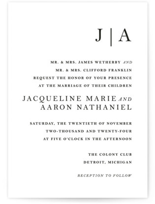 Sophistotype Wedding Invitations