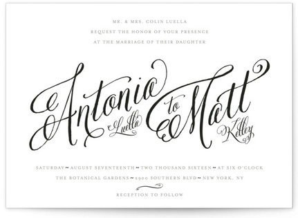 Traditional Royalty Wedding Invitations