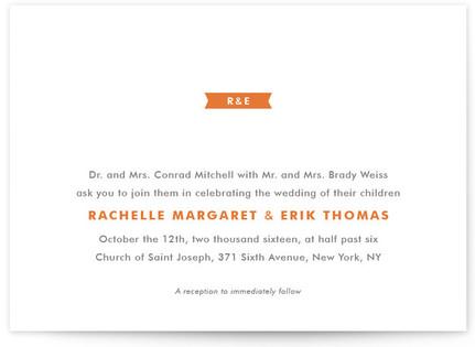 Modern Ribbon Wedding Invitations