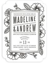 Modern Botanicals Wedding Invitations