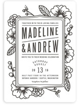 Modern Botanicals Wedding Invitations