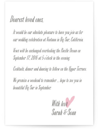 Loved Ones Wedding Invitations
