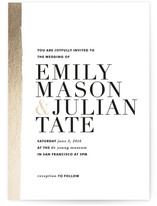 Band of Gold Wedding Invitations