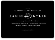 Classically Stated Wedding Invitations