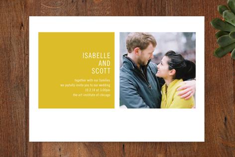 Modern Geometric Wedding Invitations