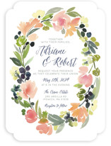 Watercolor Wreath Wedding Invitations