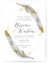 Dipped Feathers Wedding Invitations