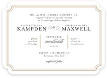 Classy Type Wedding Invitations