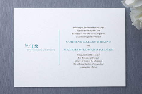 Simple Type Wedding Invitations