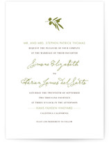 Simple Olive Wedding Invitations
