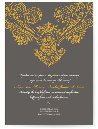 Spanish Lace Wedding Invitations
