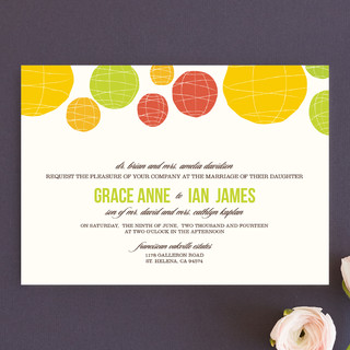 Summer Lanterns Wedding Invitations
