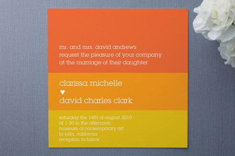 Summer Sun Wedding Invitations