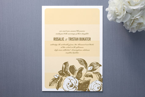 stem striate Wedding Invitations