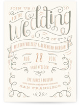 Handlettered Heart Wedding Invitations