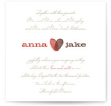HEART PRINT Wedding Invitations