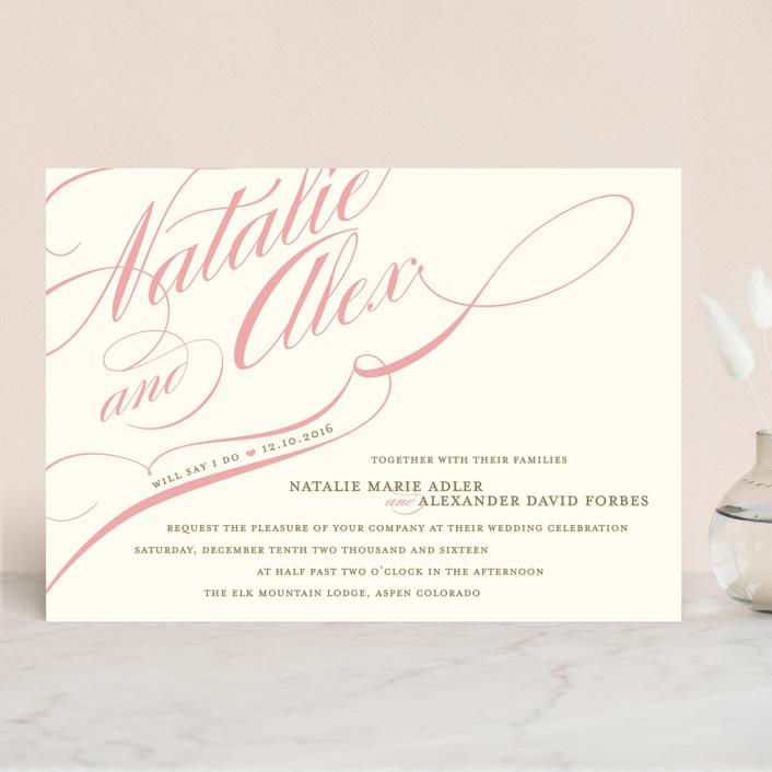 """""""Winter Flourish"""" - Elegant, Formal Wedding Invitations in Robin's Egg by annie clark."""