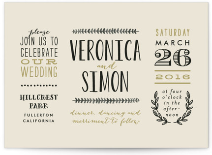 Organic Elegance Wedding Invitations