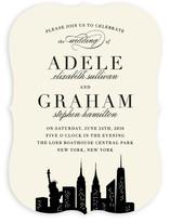 New York New York Wedding Invitations