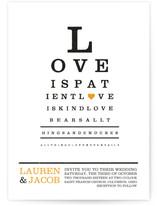Eye Chart Wedding Invitations