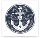 Anchor Tattoo Love Wedding Invitations